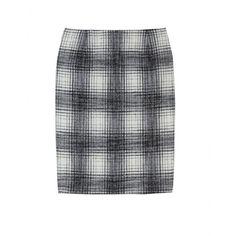 JIL SANDER - Plaid Wool Skirt