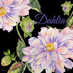 Flower Painting - Dahlia-jp2603 by Jean Plout