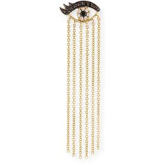 Sydney Evan 14K Long Fringe Lash Stud Earring with Diamonds ($610) ❤ liked on Polyvore featuring jewelry, earrings, gold, post back earring, black white earrings, long post earrings, diamond earrings and diamond stud earrings