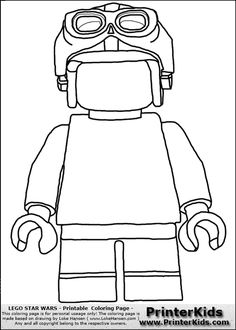 Lego Star Wars - Blank - Young Anakin Skywalker - Walking ...