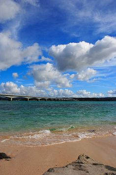 Kouri Bridge, Okinawa, Japan - Work with a KHM Travel Agent to book the Asia Vacation of your dreams! The Places Youll Go, Places To See, Okinawa Japan, Rising Sun, Aikido, Future Travel, Japan Travel, Oceans, Dream Vacations