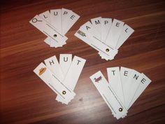 Materialwerkstatt: Deutsch Lesen - download Diese 24 Wörterfächer gibt es in zwei Versionen. Einmal bestehen sie nur aus Großbuchstaben oder aus kombinierter Groß-Kleinschreibung. Die einzelnen Streifen müssen auseinander geschnitten und mit einer Musterklammer zusammengesetzt werden.