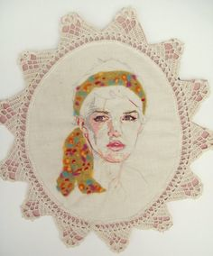 embroidered portrait. so cool