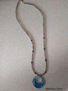 handmade-resin-pendant-crystal-necklace Crystal Necklace, Beaded Necklace, Pendant Necklace, Handmade Copper, Resin Pendant, Gold Hair, Blue Crystals, Handmade Necklaces, Diy Jewelry