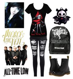 """""""Emo/scene"""" by jazzystella ❤ liked on Polyvore featuring Glamorous and Dr. Martens"""