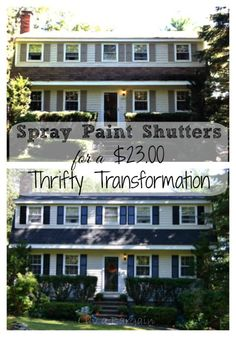 Spray Paint Shutters For A Thrifty $23.00 Transformation. Spend A Beautiful  Day Updating Your Shutters