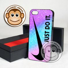 Nike Glitter Just Do It for iPhone 4/4s, 5, 5s, 5c and Samsung Galaxy s3 and s4 Case by MOMONKEYHEAD on Etsy