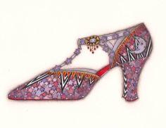 Purple Shoe by Tracy Paul
