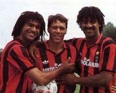 The Dutch trinity ... Rijkard , Van Basten & Gullit