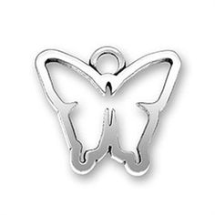Sterling Silver Butterfly Cutoff Charms