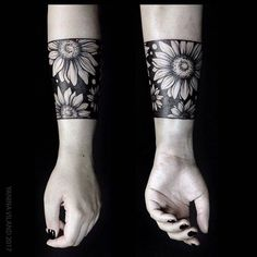 Negative space flower tattoo inked on the left forearm by Yanina Viland Forearm Cover Up Tattoos, Cover Up Tattoos For Women, Tattoo Cover, Wrist Tattoos For Women, Tribal Tattoos, Girly Tattoos, Body Art Tattoos, Sleeve Tattoos, Black Flower Tattoos