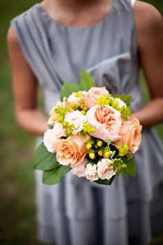 Peach, Green, and Gray Garden Wedding from Phindy Studios   Southern Weddings