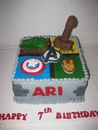 Image result for avengers square cake