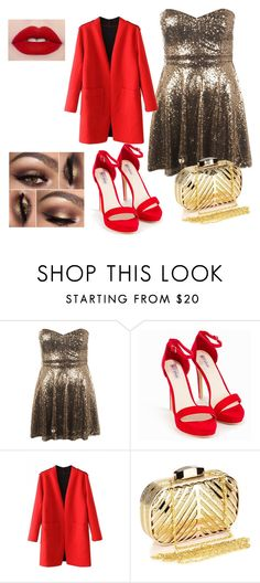 """""""Sylwestrowo"""" by liveevil94 on Polyvore featuring moda, WearAll, Nly Shoes i Chicnova Fashion"""