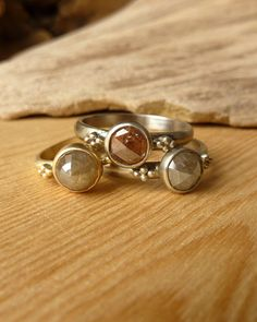 Rose Cut Diamond Ring with Bead Accents Deposit by kateszabone
