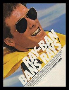 1983 Ray Ban Sunglasses Vintage Photo Print Ad