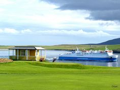 Ferry from Stromness Golf Course, Orkney
