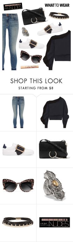 """What to wear"" by dressedbyrose ❤ liked on Polyvore featuring J Brand, Burberry, Chloé, STELLA McCARTNEY, Alexander McQueen, Givenchy, Charlotte Russe, Charlotte Tilbury, StreetStyle and ootd"