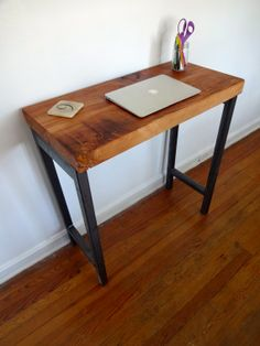 Reclaimed Wood Standing Desk // Reclaimed Atlantic White Cedar