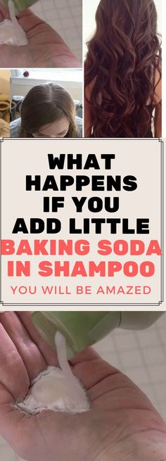WHAT HAPPENS IF YOU ADD LITTLE BAKING SODA IN SHAMPOO, YOU WILL BE AMAZED..! #HairLossTricks
