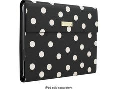 kate spade new york - Keyboard Folio Case for Apple® iPad® Air 2 - Black/Cream - Angle Zoom