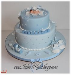 Baby shower cake for a boy Baby Shower Cakes For Boys, Baby Boy Cakes, Boy Baby Shower Themes, Baby Shower Parties, Buttercream Cake Designs, Christening Cake Boy, Fondant Baby, Unique Cakes, Beautiful Cakes