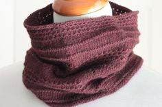 """Have you ever had a small skein of lace-weight yarn but weren't sure what to do with it? The Maple Cowl uses just 350 yds of lace-weight yarn held double on a US 4 needle and provides just enough warmth around your neck without the bulk.More Pattern Information:Gauge: 6 sts = 1"""" in St st (pattern worked with lace-weight yarn held double)Yarn: Approx. 350 yds of lace-weight yarn, shown in Lace by mYak (100% yak; 50g = 360 yds), 1 skein.Needles and other supplies: • US 4 / 3.5 mm 16"""" / 41 cm…"""