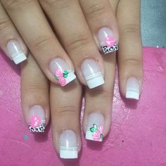 #acrilicas Fabulous Nails, Perfect Nails, Gorgeous Nails, French Tip Nails, Cool Nail Art, Trendy Nails, White Nails, Nail Arts, Manicure And Pedicure