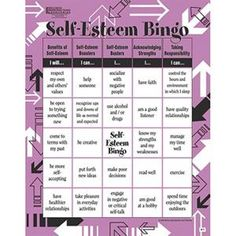 Adult Bingo Game, Self Esteem