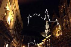 Grote of St. Bavokerk Haarlem in eigen silhouet gevangen. Foto Leontien van Engelen