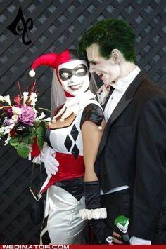 Joker & Harely Quinn wedding