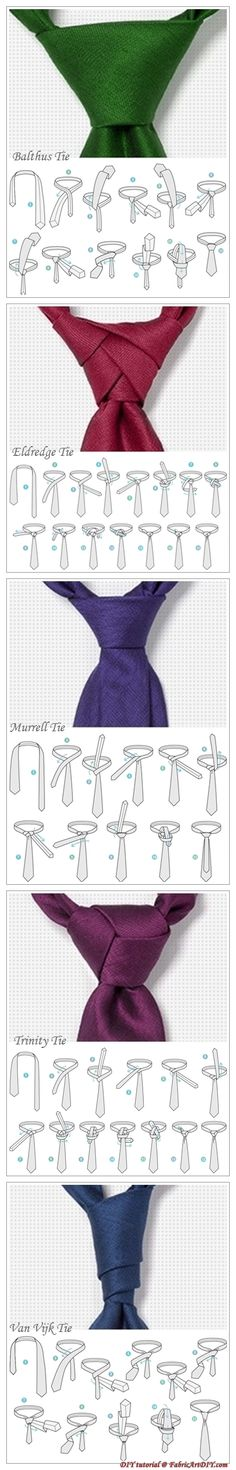 Tie Knots #ties #tieknots #infographic