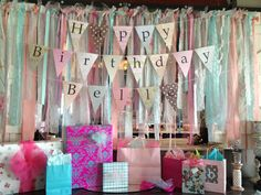 Shabby Chic banner & color coordinated presents