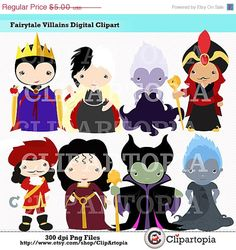 50 OFF SALE Fairytale Villains For Personal and by ClipArtopia, $2.50