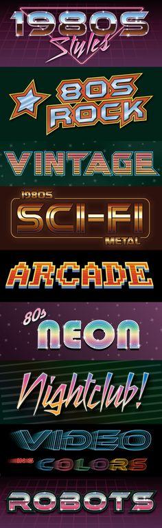 1980s Graphic Styles