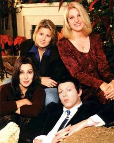 cher and her family | Cher with daughter Chastity, sister Georganne and son Elijah