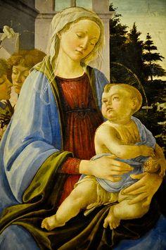 Sandro Botticelli - Scense de la vie d'Esther, 1475 at the Louvre Museum Paris France