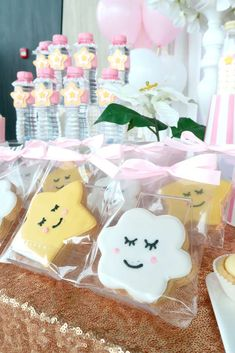 Loving the cookies at this Twinkle Twinkle Little Star birthday party! See more party ideas  and share yours at CatchMyParty.com #stars #cookies