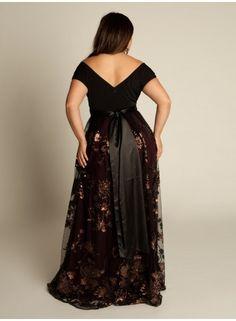 Curvalicious Clothes::Plus Size Dresses::Lakshmi Beaded Plus Size Gown