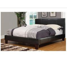 Worldwide Homefurnishings Inc. - Volt Double Bed - Brown - 101-502D - Home Depot Canada - $249