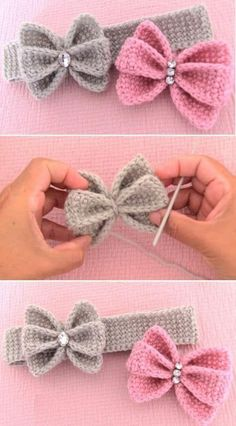 Few facts about the crochet pattern Just crochet butterfly bow sti . Few facts about the crochet pattern, just crochet butterfly bow headband, Crochet Bow Pattern, Crochet Flower Patterns, Crochet Flowers, Tutorial Crochet, Crochet Designs, Knitted Headband Free Pattern, Baby Patterns, Crochet Ideas, Free Easy Crochet Patterns