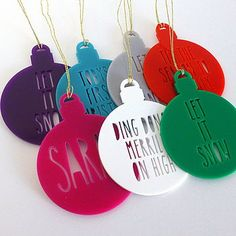 Personalised Laser Cut Bauble Colour Options
