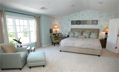 Beautiful master bedroom with vaulted ceilings. - From Lennar in Marietta, Georgia