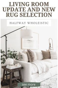 Click to see the rug on Halfway Wholeistic! Modern living room decor ideas luxury houses. Living room rug design modern. Living room rug design color schemes. Living room rug design Moroccan. Living room decor ideas modern gray. Cozy living room decor ideas on a budget. Living room furniture arrangement ideas with fireplace and tv. Living room furniture layout sofas. Living room designs Small spaces layout furniture arrangement. Rugs in living room neutral cozy! #livingroom #rug Living Room Update, Cute Living Room, Living Room Decor On A Budget, Cozy Living Rooms, Rooms Home Decor, Home Decor Items, Cheap Home Decor, Home Interiors And Gifts, Bedroom Decor