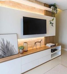 awesome 53 Adorable Tv Wall Decor IdeasYou can find Tv walls and more on our website. Living Room Wall Units, Living Room Tv Unit Designs, Home Living Room, Living Room Decor, Wall Cabinets Living Room, Tv Wall Cabinets, Tv Unit Decor, Tv Wall Decor, Modern Tv Room