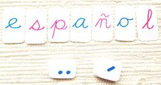 Spanish Montessori Movable Alphabet