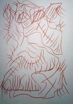 """""""Arpia III"""" 2012 Sanguigna su carta 29,5x21 ©Pietro Gargano"""