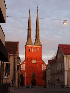 The Lutheran Cathedral in Växjö, Sweden. I lived in this city once. Star Fort, Cathedral School, Kingdom Of Sweden, Summer Cabins, Native Country, Building An Empire, Europe, Study Abroad, San Francisco Skyline