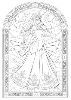Zelda coloring page!