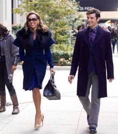 Vanessa Williams and Michael Urie as Wilhelmina Slater and Marc St. James in Ugly Betty